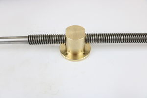 Stainless steel trapezoidal lead screw Tr24x5 with brass nut